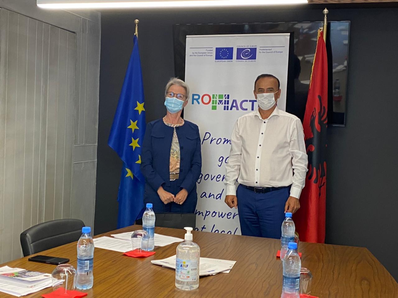 ROMACTED, Kreu i Zyrës së Këshillit të Evropës, Znj. Jutta Gützkow takon z. Ilir Xhakolli