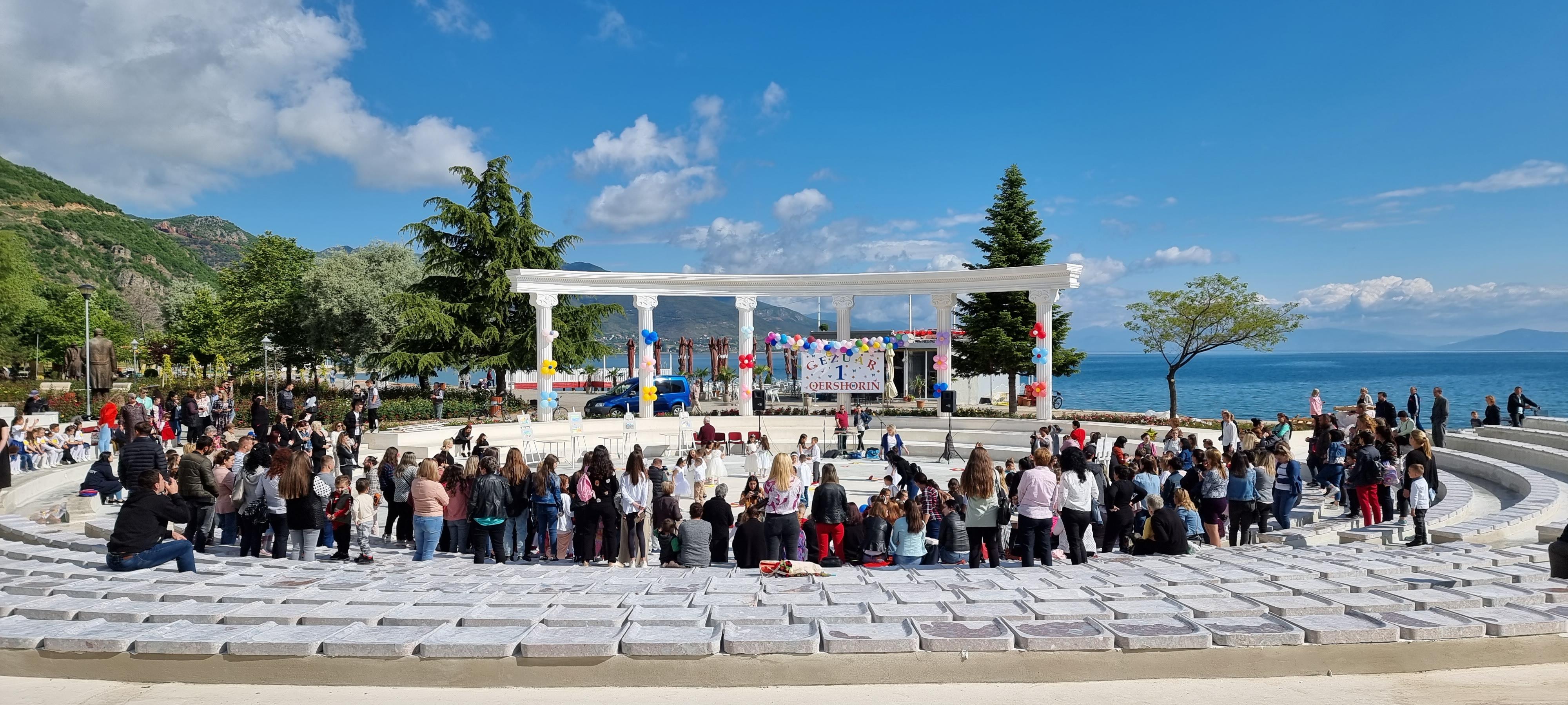 Pamja e Odeonit të ri në Pogradec